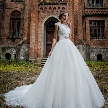 Платье со шлейфом А1626