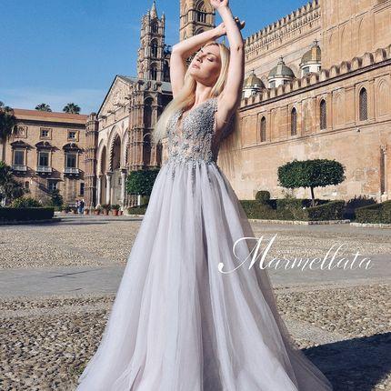 Платье со шлейфом А1696 прокат