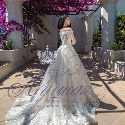 Платье со шлейфом А1648