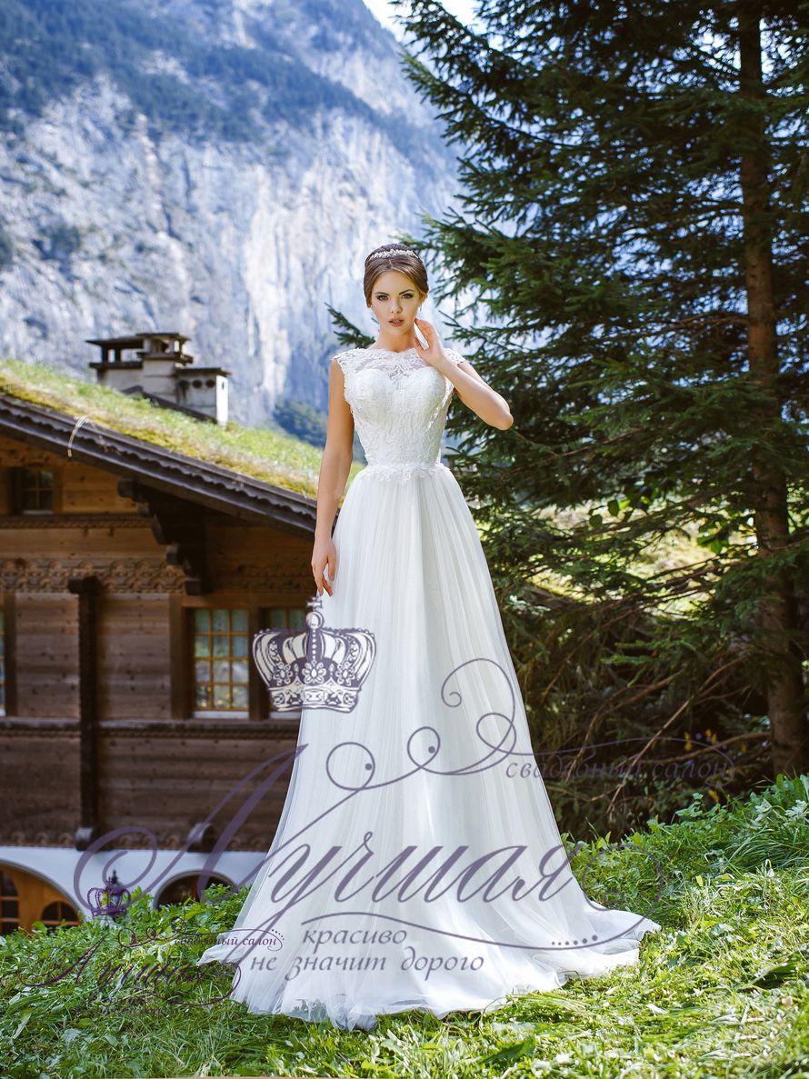 Платье со шлейфом А1644