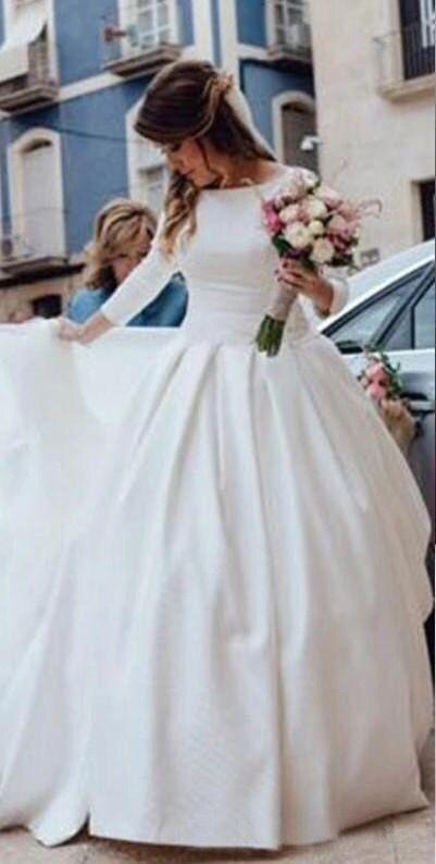 Свадебное платье со шлейфом, А1705