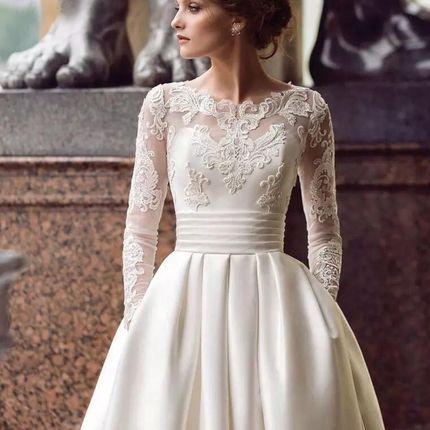 Свадебное платье со шлейфом А1746