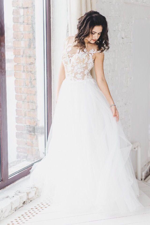 Платье со шлейфом А1763