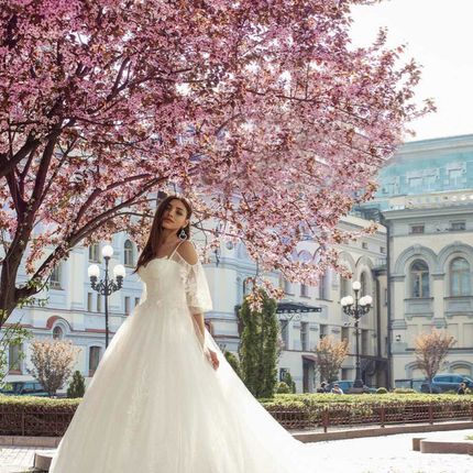 Платье с рукавами А1783