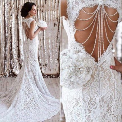 Свадебное платье русалка А1850
