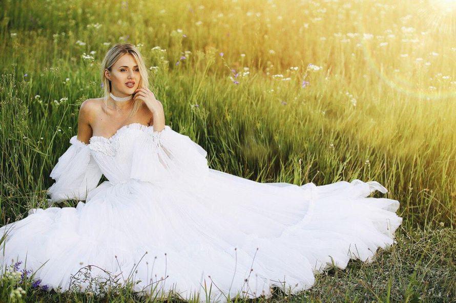 Платье с рукавами А1857 прокат