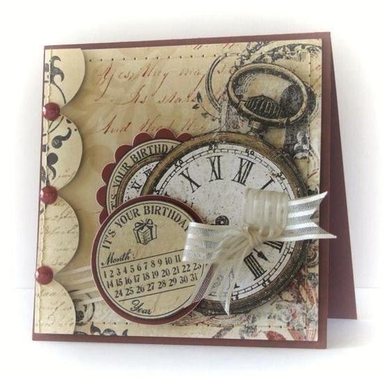 Поздравлением днем, открытки с часами своими руками