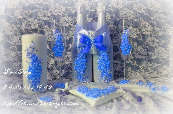 """Свадебный набор """"Магия"""" в голубом цвете - фото 4421821 Студия аксессуаров Кристины Тишковой"""