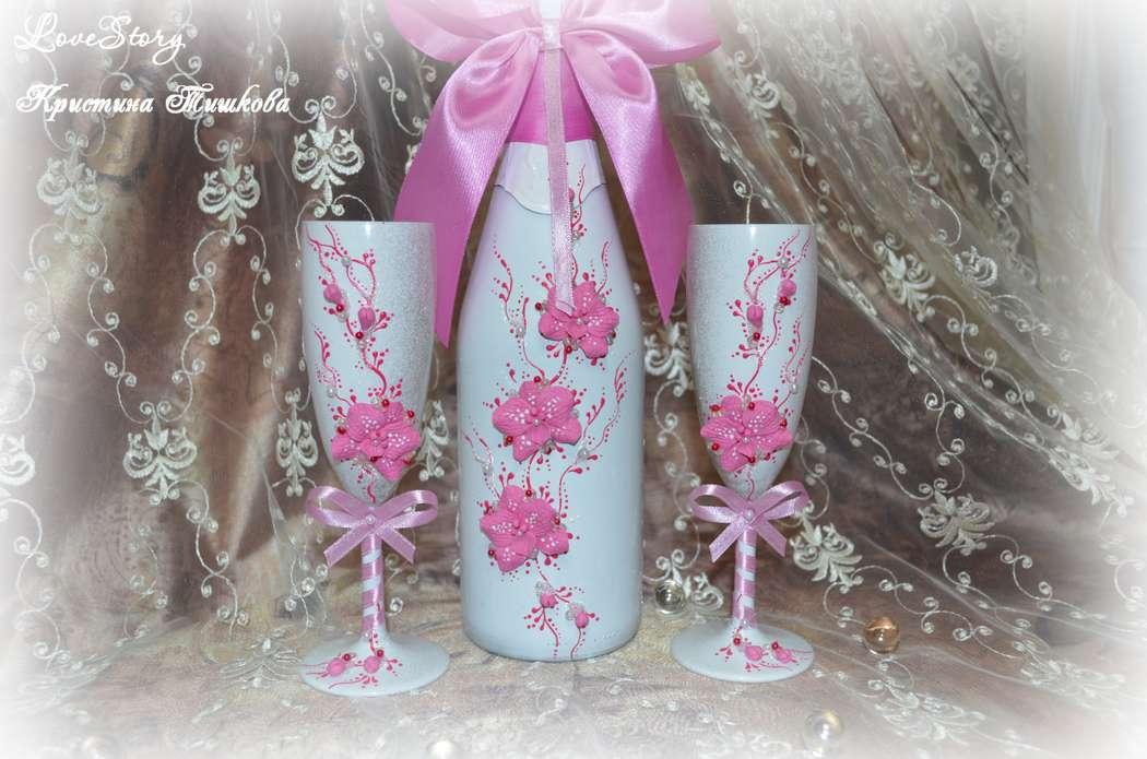 """Набор свадебных аксессуаров """"Пленительная орхидея"""" в розовом цвете - фото 4422883 Студия аксессуаров Кристины Тишковой"""