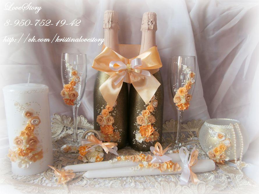 """Набор свадебных аксессуаров """"Аромат"""" в персиковом цвете - фото 4423501 Студия аксессуаров Кристины Тишковой"""