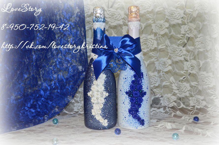 """Свадебное шампанское из коллекции """"Волшебная сказка"""" - фото 4425499 Студия аксессуаров Кристины Тишковой"""