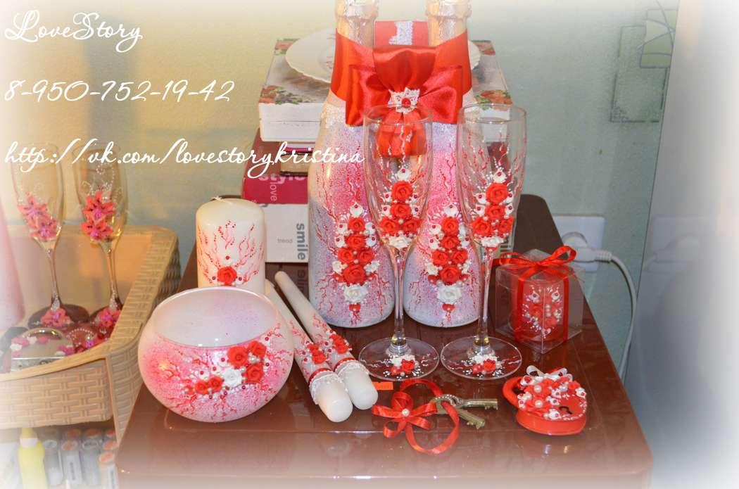 """Набор свадебных аксессуаров """"Роза"""" в красном цвете - фото 4425599 Студия аксессуаров Кристины Тишковой"""