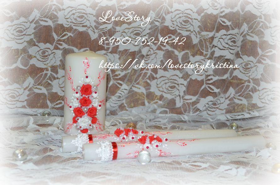 """Свечи из коллекции """"Роза"""" - фото 4425671 Студия аксессуаров Кристины Тишковой"""