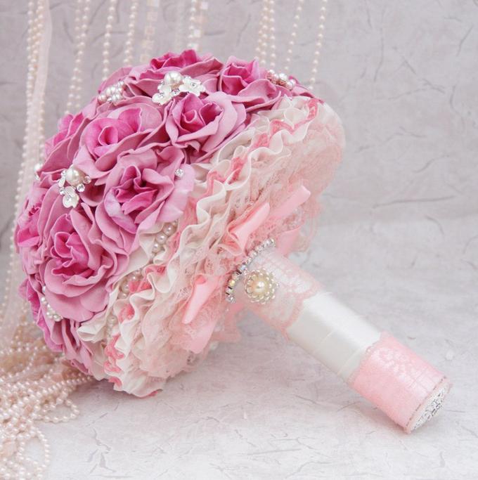 Искусственные букеты невест своими руками 348
