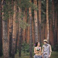Необычная свадьба в сосновом лесу
