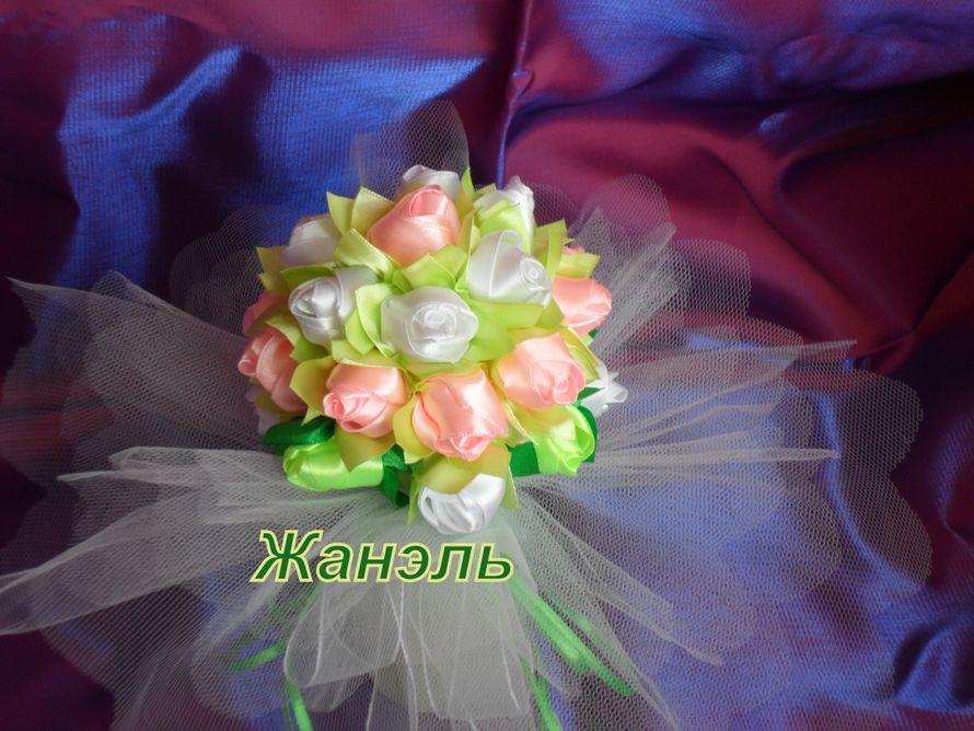 свадебный букет из атласных лент - фото 3891781 Жанэль - студия свадебного декора и услуг