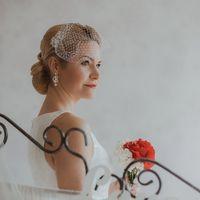 Стилист Ольга Силаева. Образ невесты в стиле ретро. Свадебная прическа с вуалью, свадебный макияж