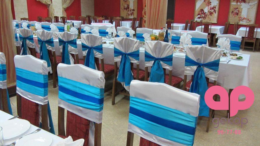 Оформление стульев в ресторане Русский самовар - фото 1651079 АрДекор - флористы