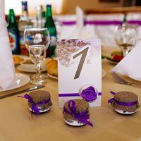 Свадебные бонбоньерки, таблички на стол