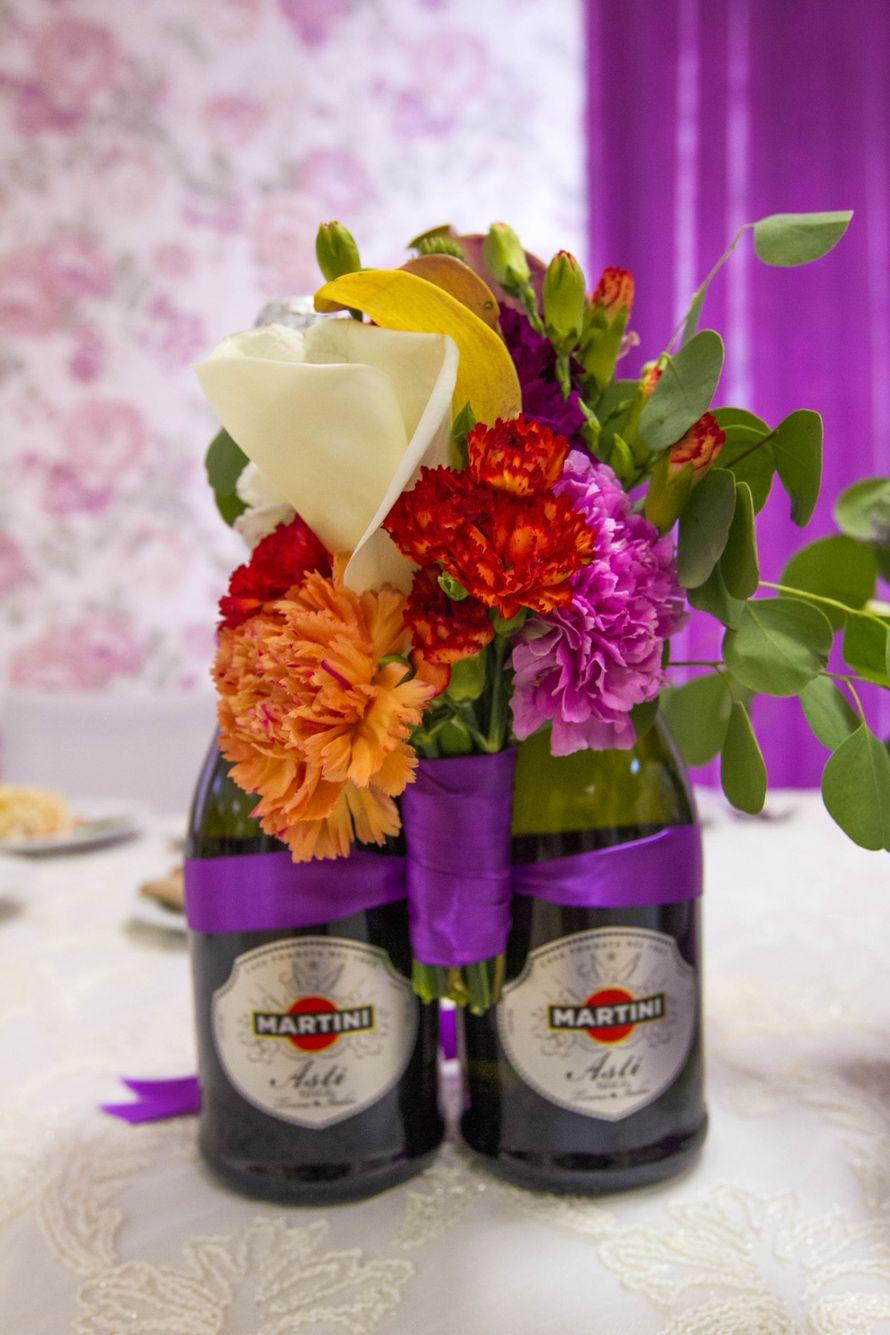 оформление зала в фиолетовом цвете - фото 3311547 DIAMANTE-deco студия свадебного дизайна