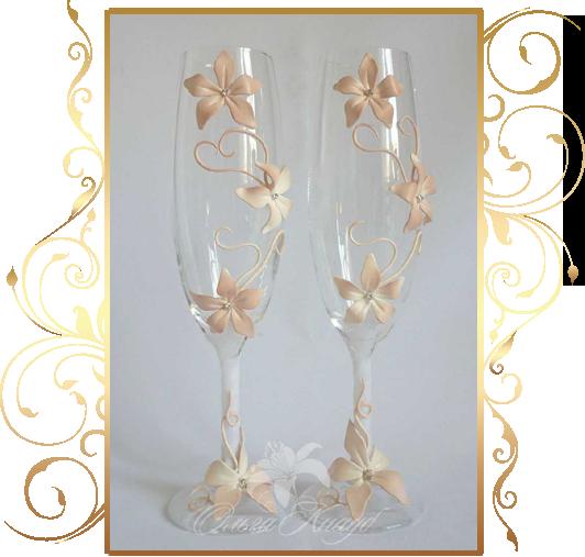 Фото 809971 в коллекции Свадебные бокалы, шампанское, подушечки для колец - Кнауб Ольга - Свадебные аксессуары