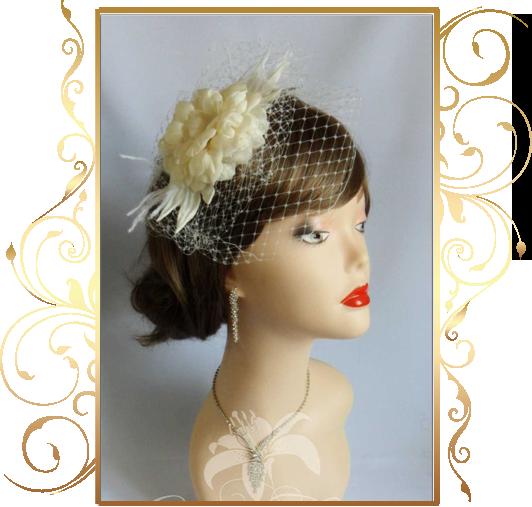 Фото 810191 в коллекции Свадебные шляпки, вуалетки - Кнауб Ольга - Свадебные аксессуары