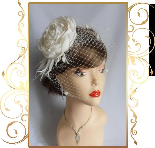 Фото 810221 в коллекции Свадебные шляпки, вуалетки - Кнауб Ольга - Свадебные аксессуары