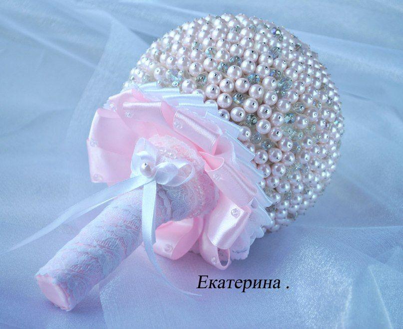 Мелким оптом, свадебный букет из бусин своими руками