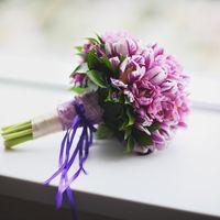 Нежный букет из тюльпанов для невесты