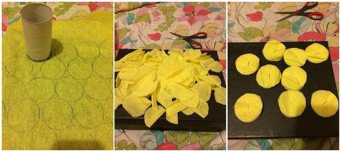 Гирлянда из бумажных цветов - 1