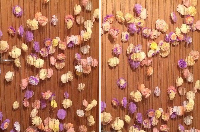 Гирлянда из бумажных цветов - 4