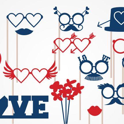 Фотобутафория набор LOVE