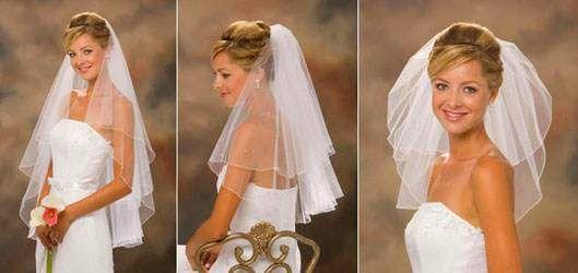 Прическа под фату на свадьбу