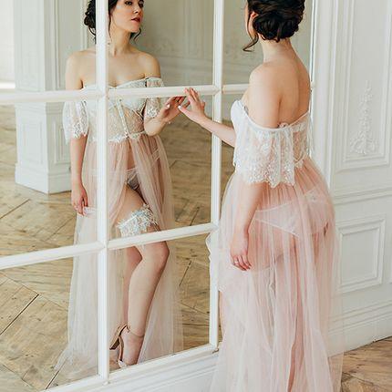 """Кружевная подвязка для невесты """"Одесса"""""""