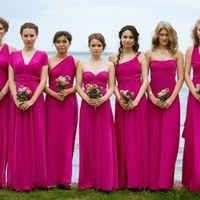 Подружки невесты в цвете Темная Фуксия Свадьба в г.Челябинск
