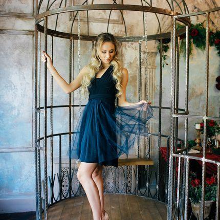 Платье-трансформер с фатиновой юбкой на пошив