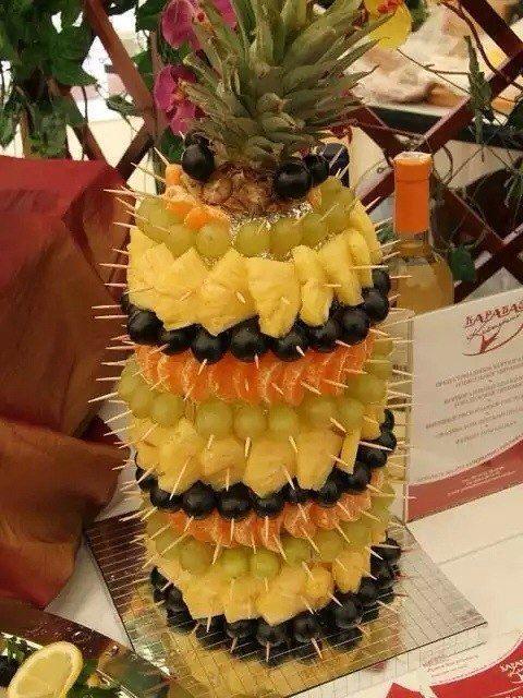 Пирамиды из фруктов как сделать