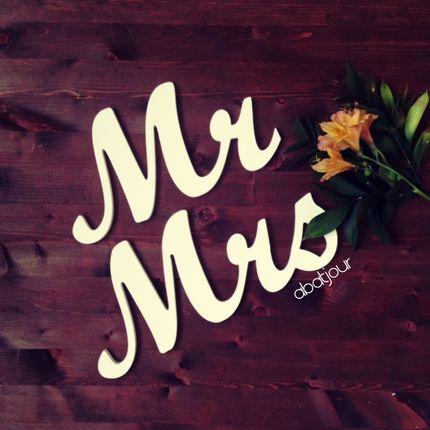 Буквы из дерева Mr Mrs