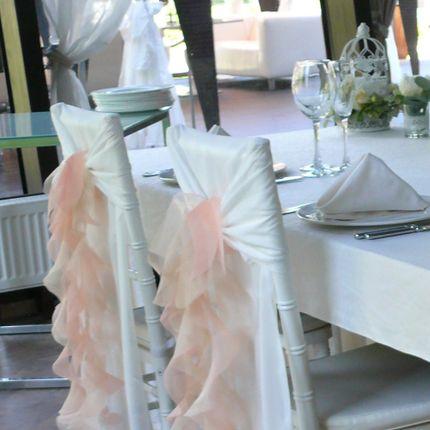 Воланы для украшения стульев любой цвет