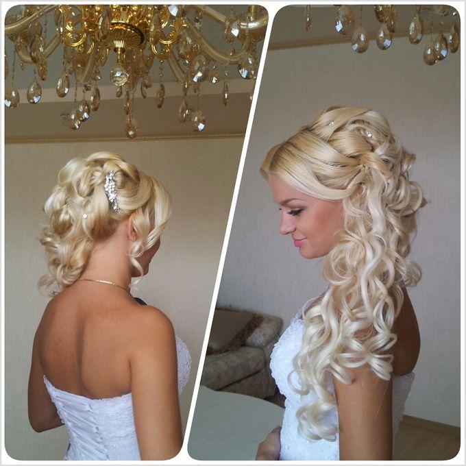 Фото прически свадебные блондинки