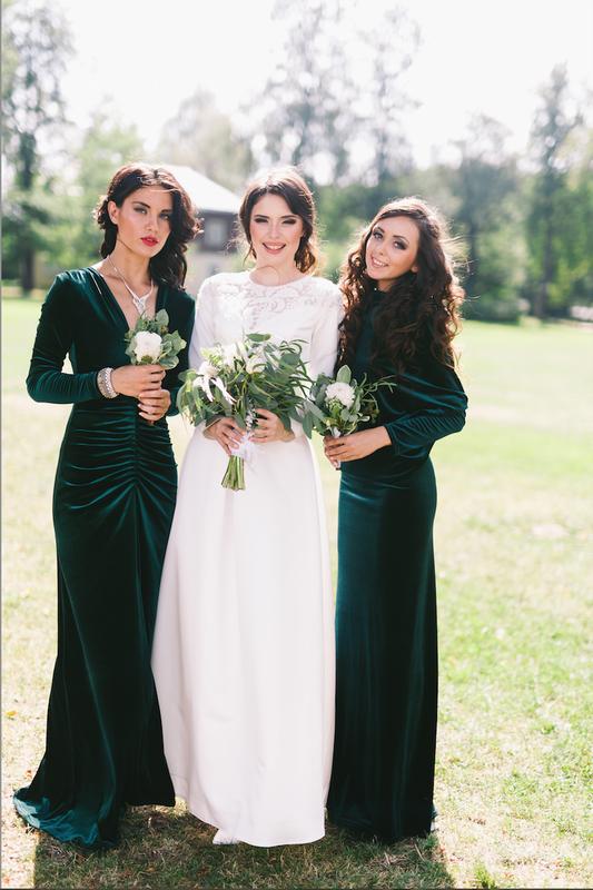 """Невеста и её подружки в изумрудном бархате - фото 2907163 Свадебное агентство """"Wedkitchen"""""""