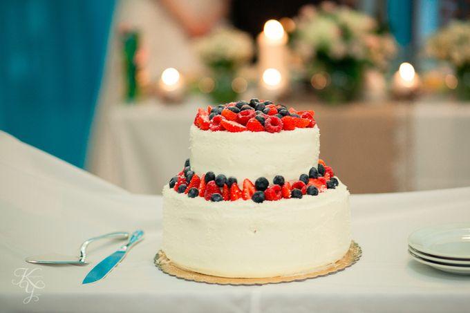 Двухуровневый торт  без мастики
