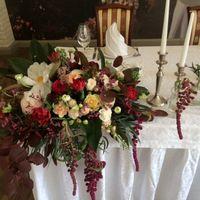 Оформление зала на свадьбу. Бордовый цвет в композициях. Мастерская декора и флористики Mi Amor