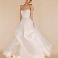 Свадебное платье с воланами 2017 boom blush