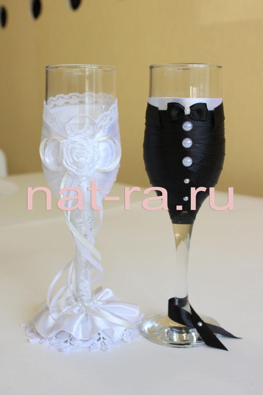 """Фото 3311099 в коллекции Свадебные бокалы - Студия свадебных аксессуаров """"NatRa"""""""