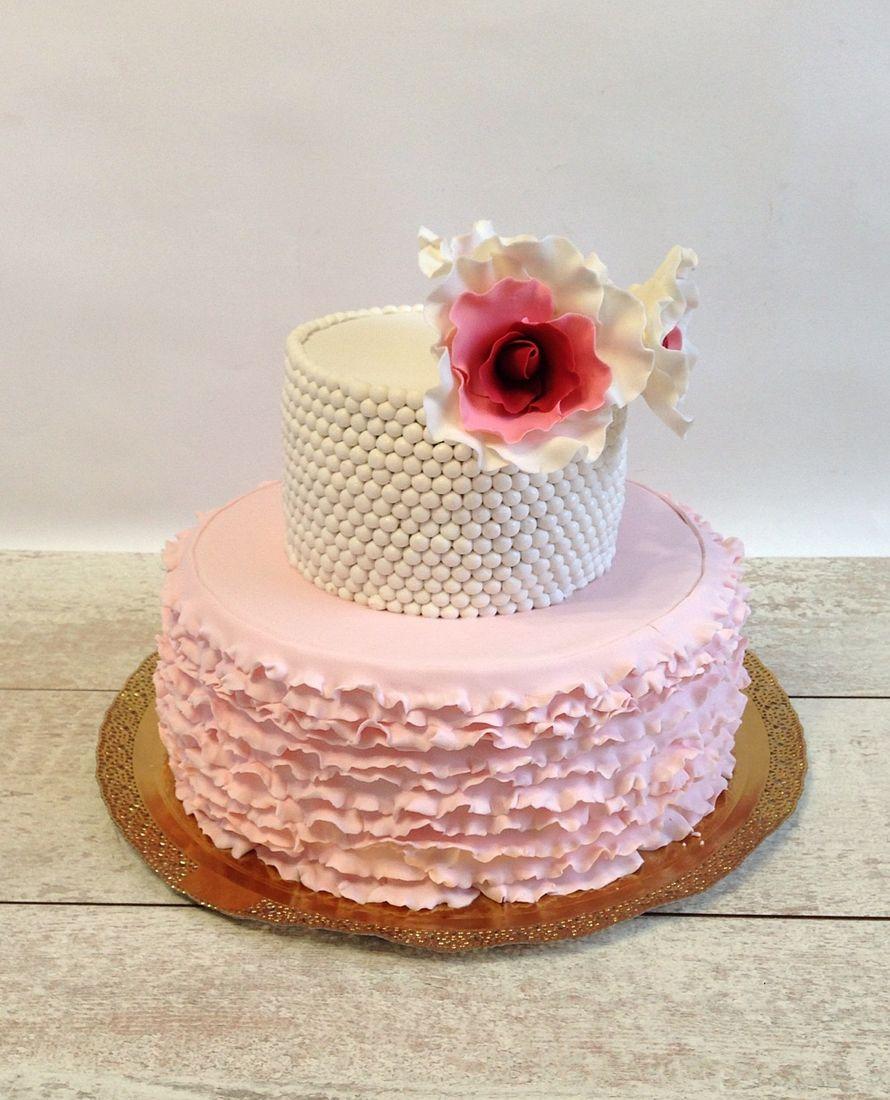 Как украсить торт рюшами