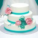 бело-бирюзовый торт, торт в цвете Тиффани