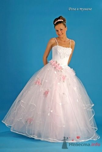 "Роза в тумане, розовое - фото 15032 Свадебный салон ""Хельга"""