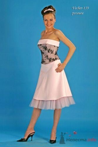 """Модель Vecher (139), розовое - фото 15112 Свадебный салон """"Хельга"""""""