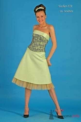 """Модель Vecher (139), зеленое - фото 15114 Свадебный салон """"Хельга"""""""